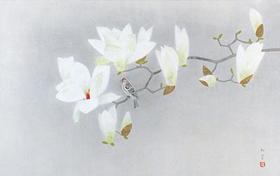 ➀梅原龍三郎「薔薇圖」1979年