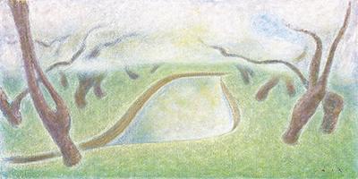 ➂舟越 桂「唐突な山」1995年