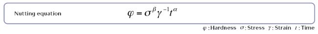 Nutting equation