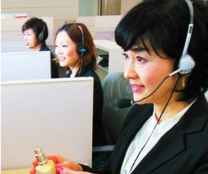 Consulting staff at work in the Consumer Communication Center