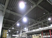 Solar-powered lighting (inside storage facility)