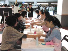Shiseido Beauty Support activities in Japan Women's Conference in Sendai 2012