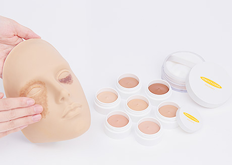 Example cases of cover makeup for those with serious skin concerns